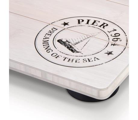 Soehnle Pèse-personne de salle de bain Bamboo 180 kg Blanc 63845[4/7]