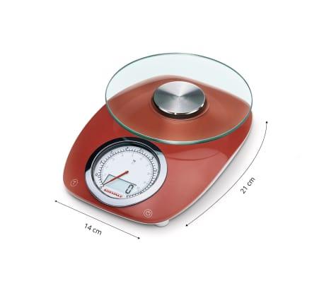 Soehnle balance de cuisine vintage style 5 kg rouge 66229 Balance de cuisine rouge