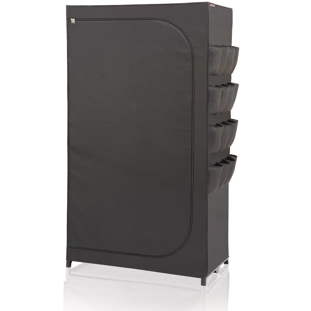 Afbeelding van Leifheit Kledingkast Flex zwart 90x50x160 cm 80001