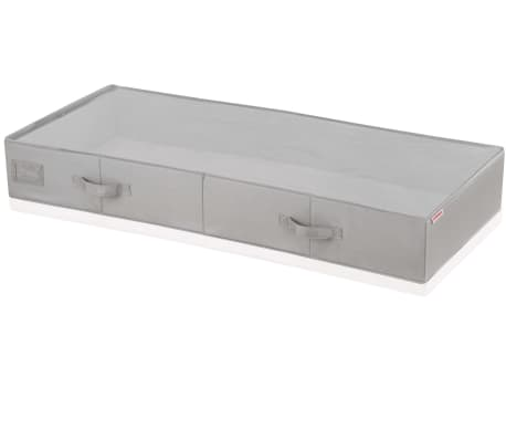 Leifheit Caja de almacenaje bajo la cama grande gris 106x45x15cm 80012[1/9]
