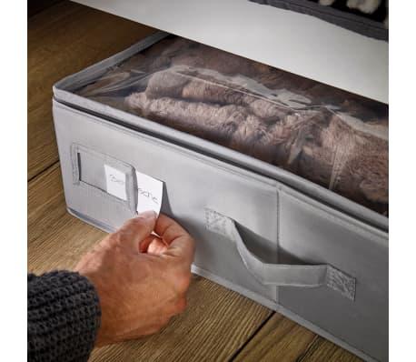 Leifheit Caja de almacenaje bajo la cama grande gris 106x45x15cm 80012[6/9]