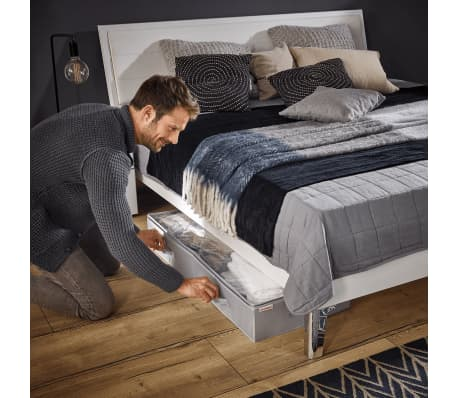 Leifheit Caja de almacenaje bajo la cama grande gris 106x45x15cm 80012[7/9]