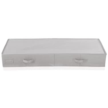 Leifheit Caja de almacenaje bajo la cama grande gris 106x45x15cm 80012[2/9]
