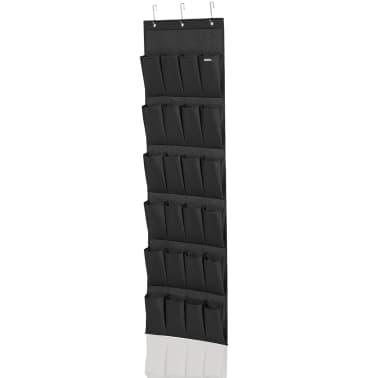 Leifheit Organizador zapatos 24 bolsillos negro 47,5x5x165,8cm 80015[2/5]