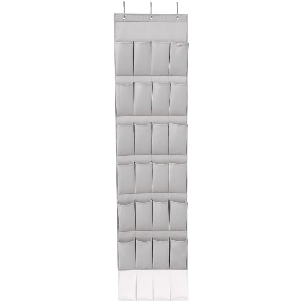 Afbeelding van Leifheit Schoenenorganizer met 24 zakken grijs 47,5x5x165,8 cm 80016
