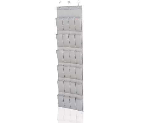 Leifheit Organizador de zapatos 24 bolsillos gris 47,5x5x165,8cm 80016