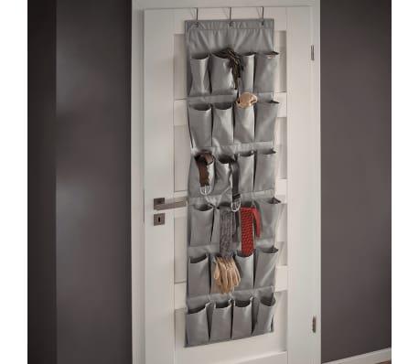 Ekstra Shop Leifheit Hengende skohylle med 24 lommer grå 47,5x5x165,8 cm IN-85