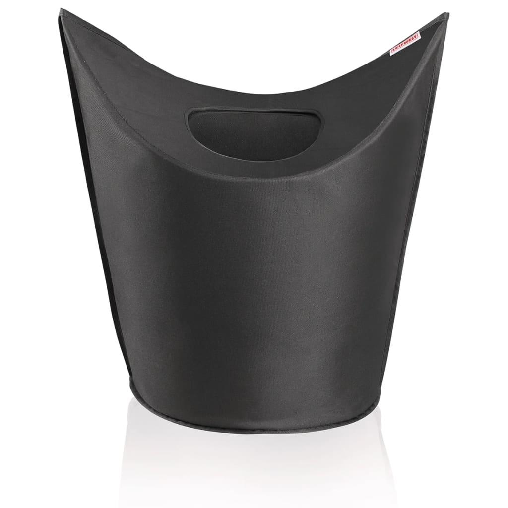 Afbeelding van Leifheit Wasmand zwart 60x35x80 cm 80021