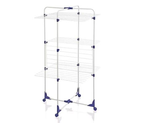 tendoir s choir linge pliable avec 4 roulettes tower 270 leifheit 81454 ebay. Black Bedroom Furniture Sets. Home Design Ideas