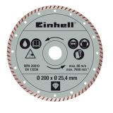 Einhell Turbo Kutteskive 200 x 25,4 mm for RT-TC 520 U og TE-TC 620 U