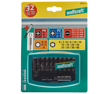 wolfcraft Jeu d'embouts 32 pièces 2975000[3/3]