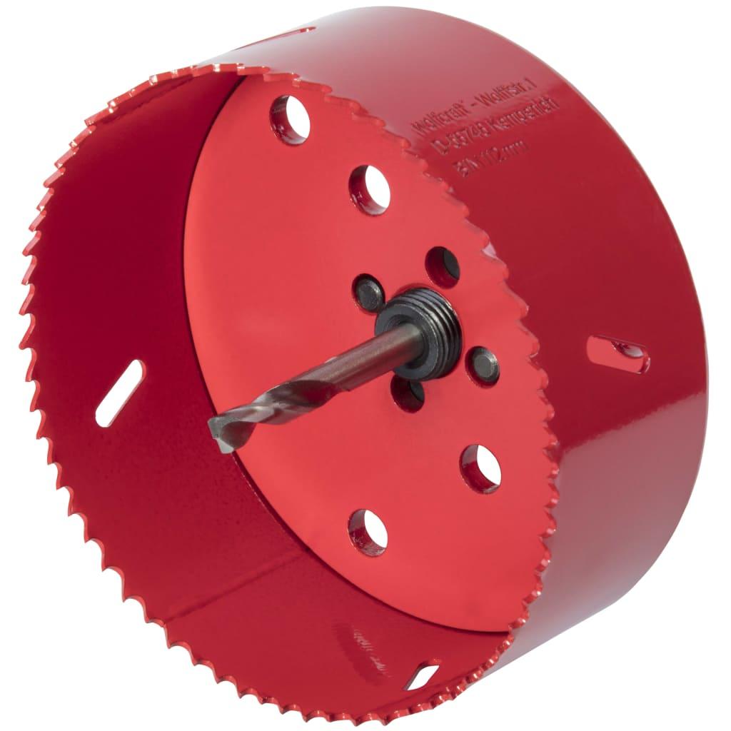 Afbeelding van wolfcraft Gatenzaag 112 mm bimetaal rood 5496000