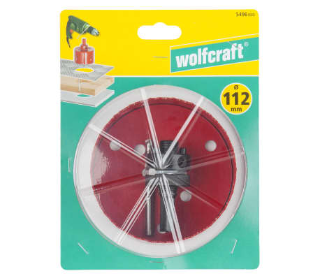 wolfcraft Scie cloche 112 mm Bi-Métal Rouge 5496000[3/3]