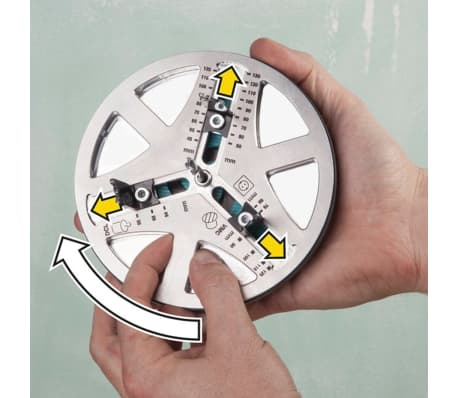 wolfcraft Otwornica regulowana AH 45-130, metalowa, 30 mm, 5978000[6/8]