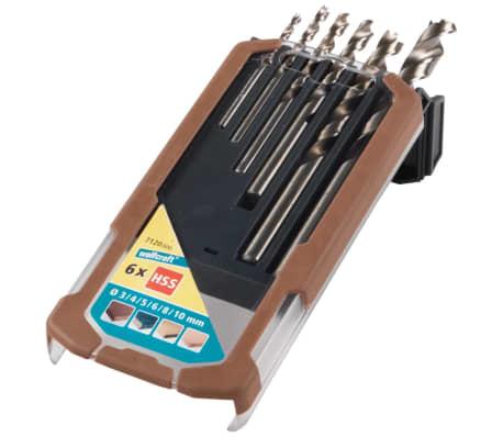 wolfcraft Jeu de forets à bois 6 pcs Professional 3-10 mm 7120000