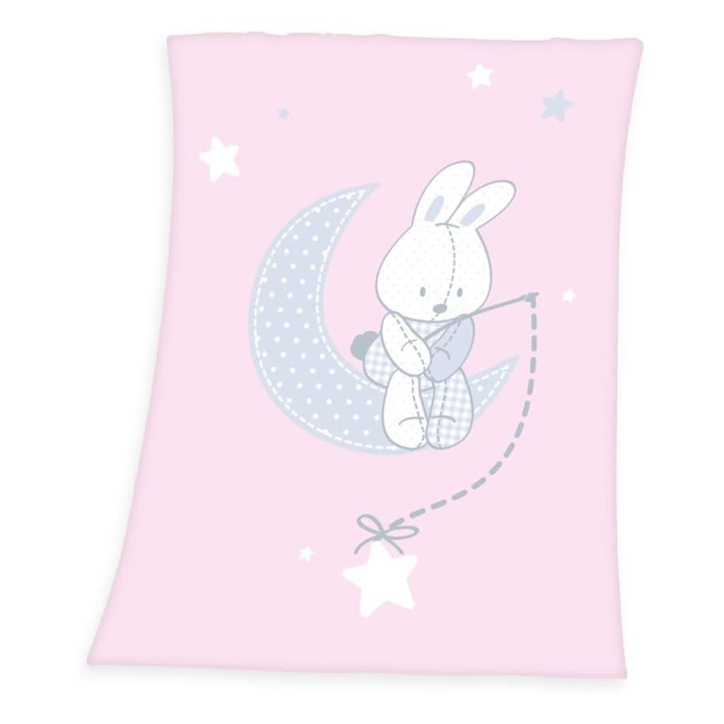 Afbeelding van Baby Best Haas deken Wiegje (75x100 cm) 100% polyester Roze