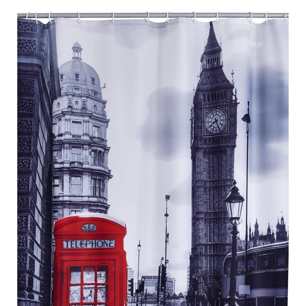 RIDDER Perdea de duș London, 180 x 200 cm imagine vidaxl.ro