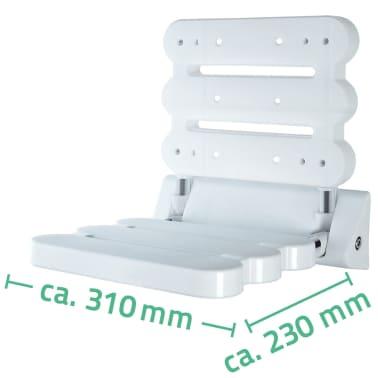 RIDDER Klappbarer Duschsitz Weiß A0020011[3/3]