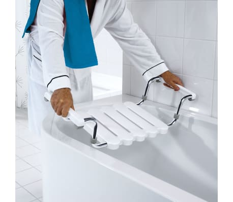 RIDDER Badewannen-Sitz mit poliertem Rahmen Weiß A0040011[1/4]