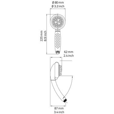 RIDDER Set de ducha alcachofa de masaje 8 ajustes Curaçao cromo 91110[7/7]