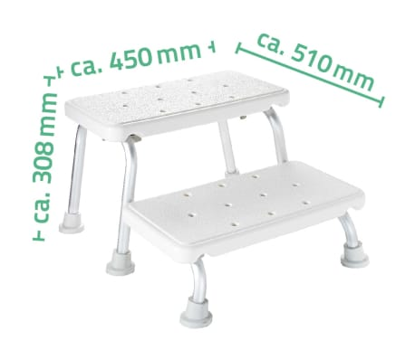 RIDDER Zweistufenschemel Weiß 150 kg A0102001[4/4]