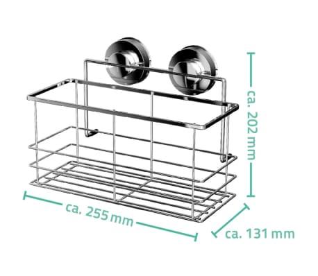 RIDDER Estante de ducha 25,5x13,1x20,2 cm cromado 12010300[3/3]