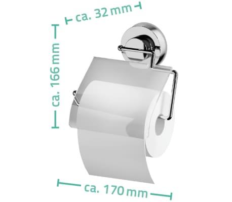 RIDDER Soporte para papel higiénico 17x3,2x16,6 cm cromado 12100000[3/3]