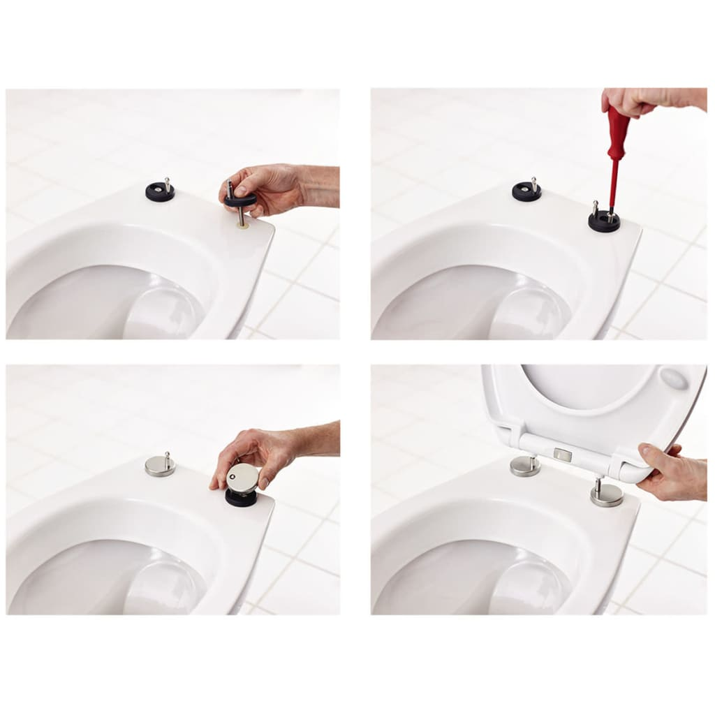 RIDDER Toiletbril Woody soft-close wit 2201100
