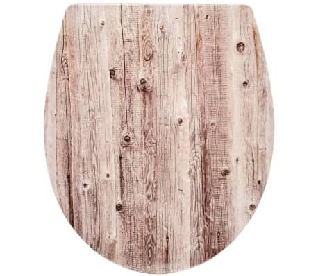 RIDDER Asiento de inodoro Woody de cierre suave blanco 2201100[2/5]