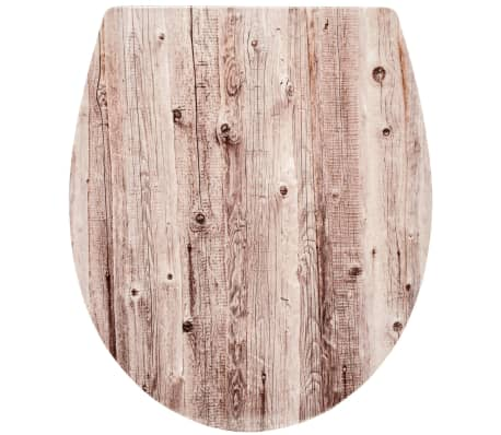 RIDDER Asiento de inodoro Woody de cierre suave blanco 2201100[4/5]