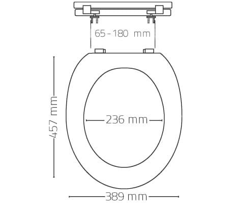 RIDDER Asiento de inodoro Woody de cierre suave blanco 2201100[5/5]