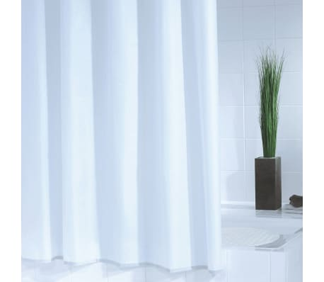 RIDDER Rideau de douche Standard 180 x 200 cm Blanc[1/3]