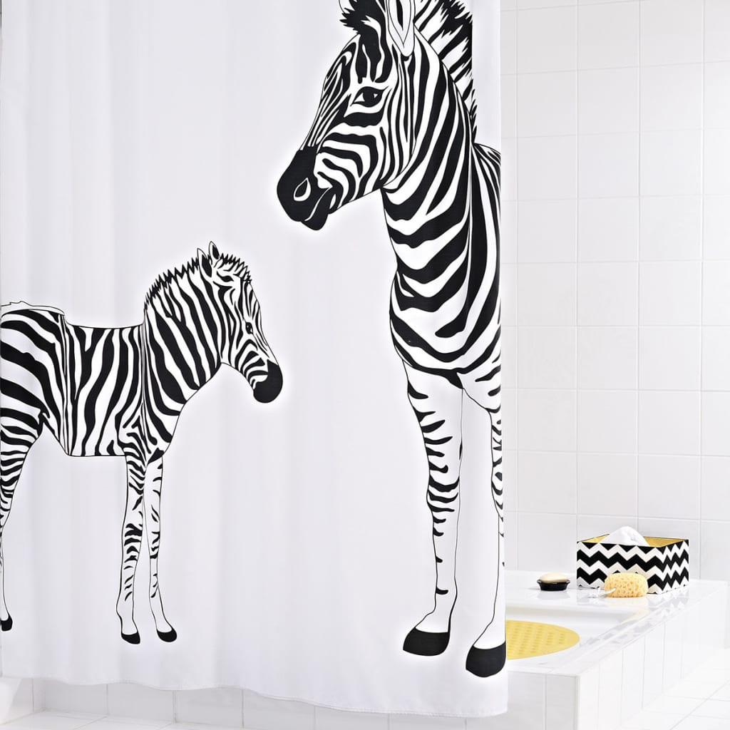 RIDDER Perdea de duș Zebra, 180 x 200 cm imagine vidaxl.ro