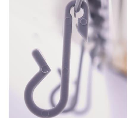 RIDDER universāls stūra dušas aizkara stienis ar āķīšiem, hroms, 52500[8/8]
