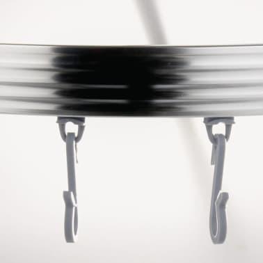 RIDDER universāls stūra dušas aizkara stienis ar āķīšiem, hroms, 52500[4/8]