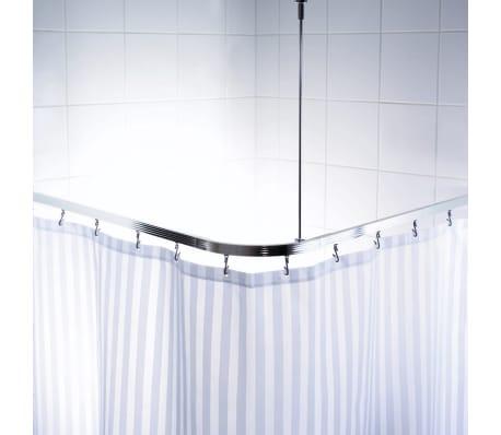 RIDDER universāls stūra dušas aizkara stienis ar āķīšiem, hroms, 52500[1/8]