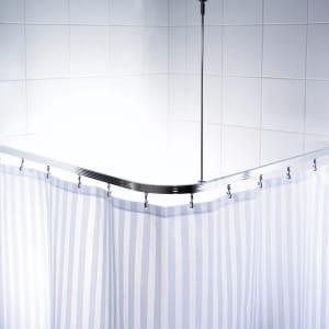 RIDDER Rail de douche de coin universel avec crochets chromés 52500