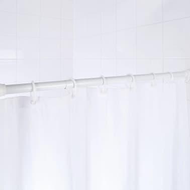 RIDDER Tringle de rideau de douche télescopique 70-115 cm Blanc 55101[2/2]