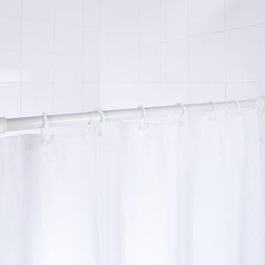 RIDDER Barra telescópica para cortina de ducha 110-185 cm blanca 55201[2/2]