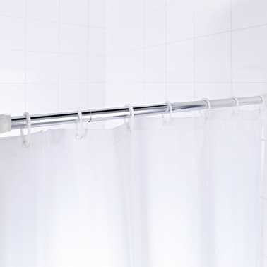 RIDDER Tringle de rideau de douche télescopique 110-245cm Chromé 55300[2/2]