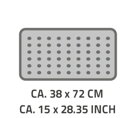 RIDDER Badmat anti-slip Capri 72x38 cm pergamon[4/4]