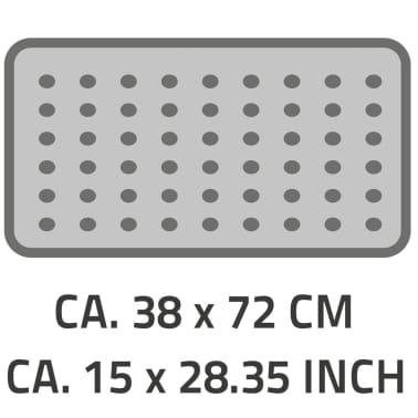 RIDDER Badmat anti-slip Capri 72x38 cm wit 66081[2/2]