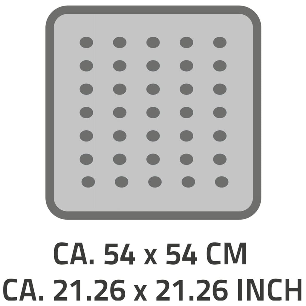 RIDDER Douchemat anti slip Capri 54x54 cm wit 66281