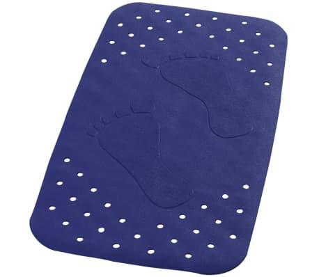 RIDDER Tapis de bain antidérapant Plattfuß 72 x 38 cm Bleu 67063[1/2]