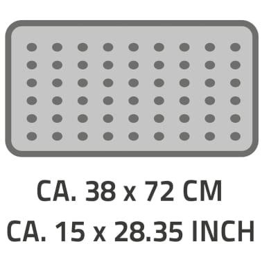 RIDDER Tapis de bain antidérapant Plattfuß 72 x 38 cm Bleu 67063[2/2]