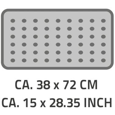 RIDDER Badewanneneinlage Antirutschmatte Plattfuß 72×38 cm Grau 67087[2/2]