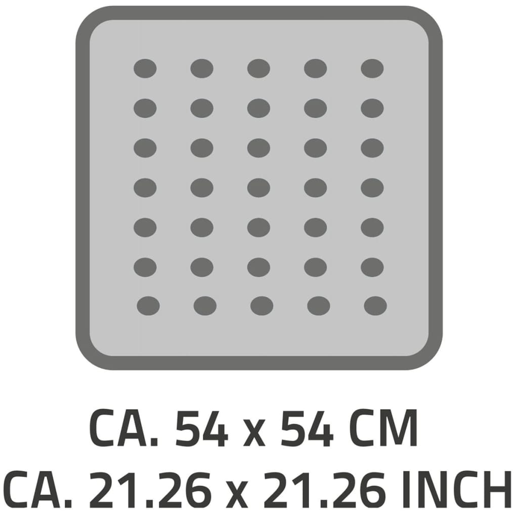 RIDDER Douchemat anti slip Playa 54x54 cm zwart 68410