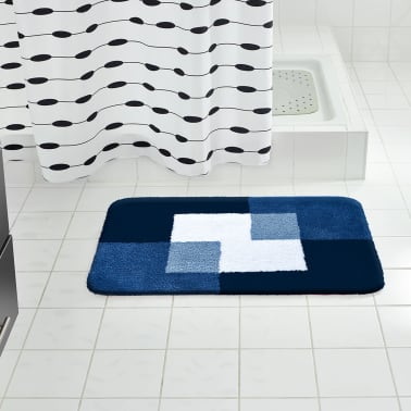 RIDDER Tapis de salle de bains Coins 60 x 90 cm Bleu 7103303[1/4]