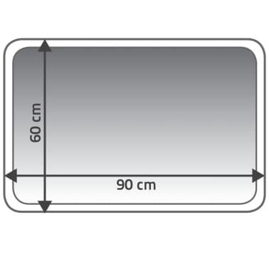 RIDDER Tapis de salle de bains Coins 60 x 90 cm Rouge 7103306[4/4]