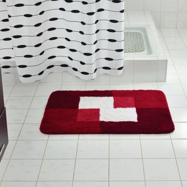 RIDDER Tapis de salle de bains Coins 60 x 90 cm Rouge 7103306[1/4]